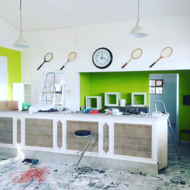 Lavori di rinnovamento Bar Acli